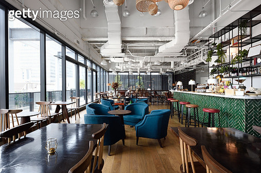 Cafe lounge in a co-working office - gettyimageskorea