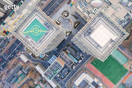 Aerial view of buildings - gettyimageskorea