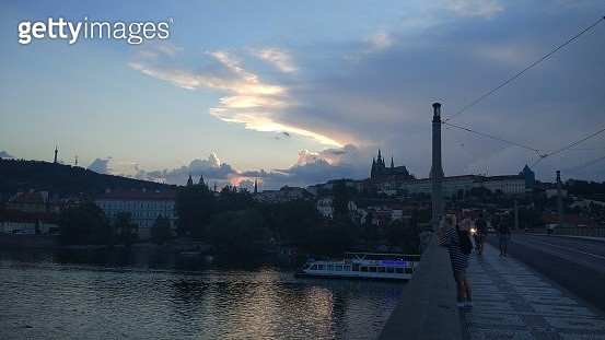Sunset over Vltava river - gettyimageskorea