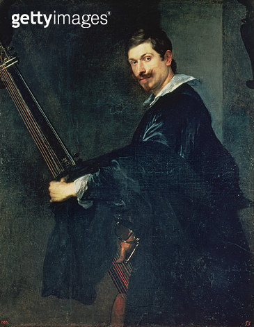 <b>Title</b> : 102-0002877 Portrait of the musician Jacob Gaultier, a flautist at the English court, 1625<br><b>Medium</b> : oil on canvas<br><b>Location</b> : Prado, Madrid, Spain<br> - gettyimageskorea