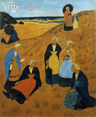 <b>Title</b> : Young Breton Women wearing Shawls, or The Girls of Douarnenez, 1895<br><b>Medium</b> : oil on canvas<br><b>Location</b> : Galerie Daniel Malingue, Paris, France<br> - gettyimageskorea