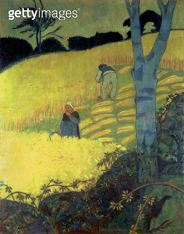 <b>Title</b> : Harvest Scene (oil on canvas)<br><b>Medium</b> : oil on canvas<br><b>Location</b> : Galerie Daniel Malingue, Paris, France<br> - gettyimageskorea