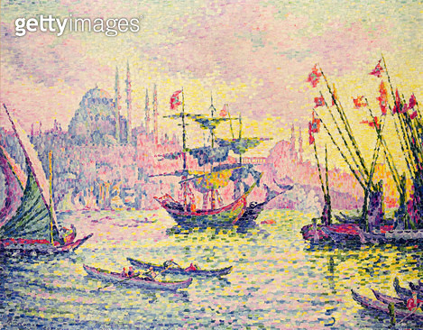 <b>Title</b> : View of Constantinople, 1907 (oil on canvas)<br><b>Medium</b> : oil on canvas<br><b>Location</b> : Galerie Daniel Malingue, Paris, France<br> - gettyimageskorea