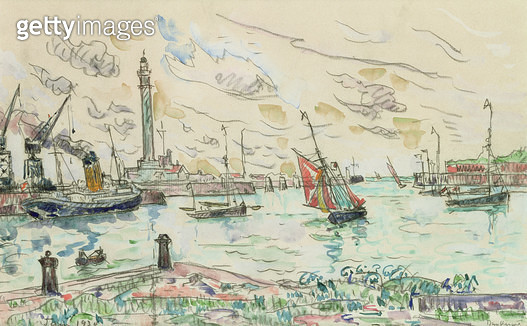 <b>Title</b> : Dunkirk, 1930 (w/c)<br><b>Medium</b> : watercolour on paper<br><b>Location</b> : Galerie Daniel Malingue, Paris, France<br> - gettyimageskorea
