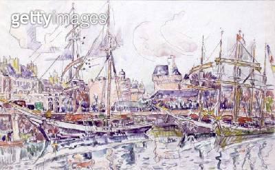 <b>Title</b> : St. Malo, 1930 (w/c)<br><b>Medium</b> : watercolour on paper<br><b>Location</b> : Galerie Daniel Malingue, Paris, France<br> - gettyimageskorea