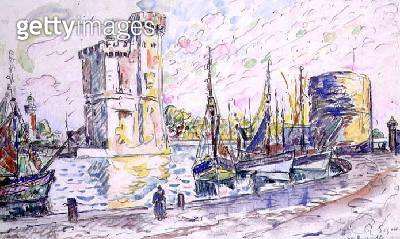 <b>Title</b> : La Rochelle (w/c)<br><b>Medium</b> : watercolour on paper<br><b>Location</b> : Galerie Daniel Malingue, Paris, France<br> - gettyimageskorea