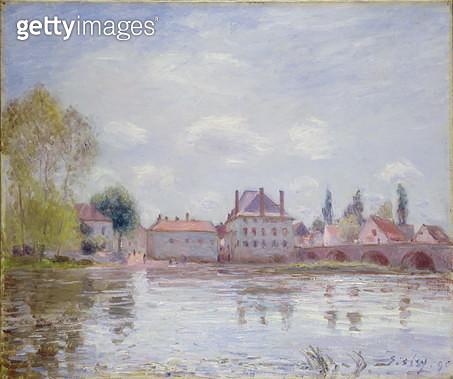 <b>Title</b> : The Bridge at Moret-sur-Loing, 1890<br><b>Medium</b> : oil on canvas<br><b>Location</b> : Galerie Daniel Malingue, Paris, France<br> - gettyimageskorea