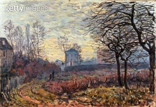 <b>Title</b> : Landscape near Louveciennes, 1873<br><b>Medium</b> : oil on canvas<br><b>Location</b> : Galerie Daniel Malingue, Paris, France<br> - gettyimageskorea
