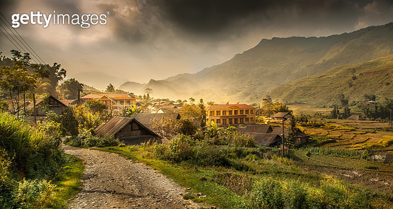 A rural scene village in Vietnam - gettyimageskorea