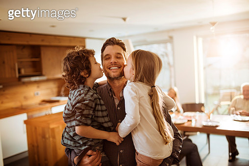 Father playing with kids - gettyimageskorea