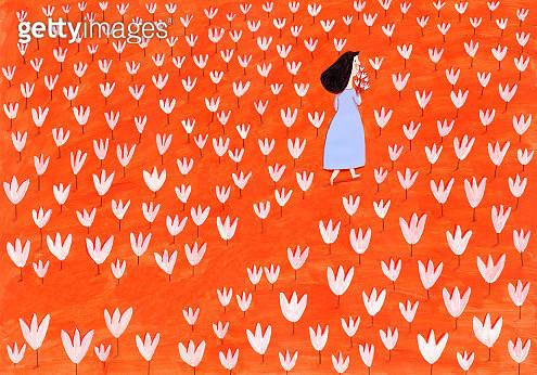 Field of flowers - gettyimageskorea