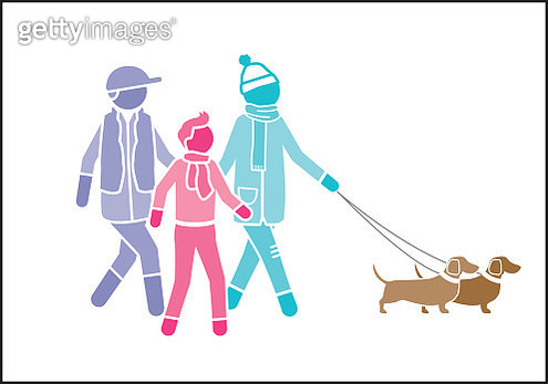 Homosexual male fathers with son and dogs - gettyimageskorea