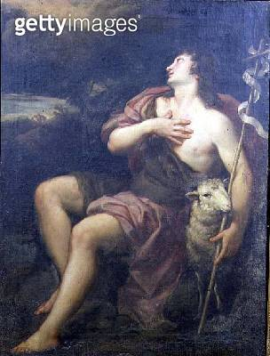<b>Title</b> : St. John the Baptist (oil on canvas)<br><b>Medium</b> : oil on canvas<br><b>Location</b> : Private Collection<br> - gettyimageskorea