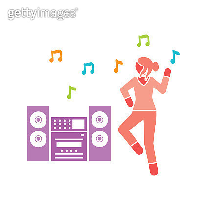 Woman dancing to music - gettyimageskorea