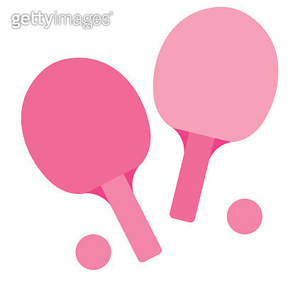 ping pong rackets and balls - gettyimageskorea