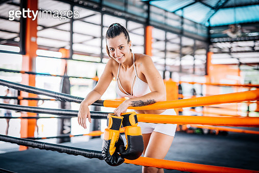 Latino young woman exercising boxing for ladies in Brazil - gettyimageskorea