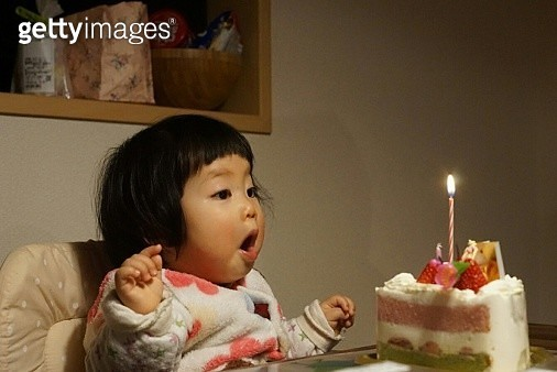 Girl Having Birthday Party - gettyimageskorea