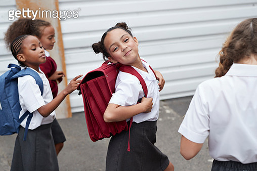 Children at modern school facility - gettyimageskorea