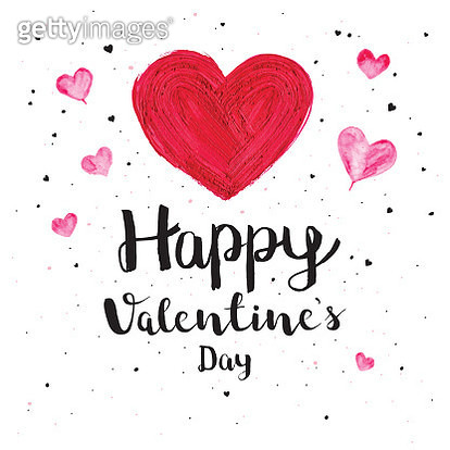 Valentines day painted heart - gettyimageskorea