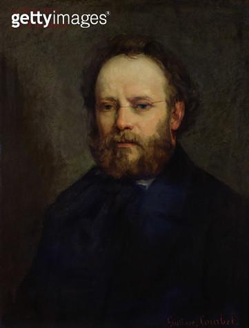 <b>Title</b> : Portrait of Pierre Joseph Proudhon (1809-65) 1865 (oil on canvas)<br><b>Medium</b> : oil on canvas<br><b>Location</b> : Musee d'Orsay, Paris, France<br> - gettyimageskorea