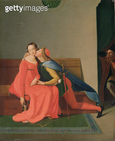 <b>Title</b> : Paolo and Francesca<br><b>Medium</b> : oil on canvas<br><b>Location</b> : The Barber Institute of Fine Arts, University of Birmingham<br> - gettyimageskorea
