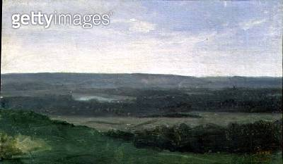 <b>Title</b> : Landscape with Distant Mountains, c.1840-45<br><b>Medium</b> : oil on canvas<br><b>Location</b> : The Barber Institute of Fine Arts, University of Birmingham<br> - gettyimageskorea