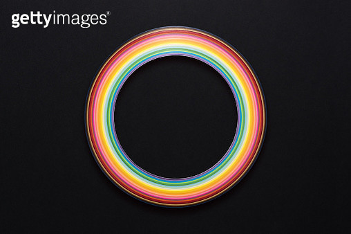 Circle Shape Abstract Paper Stripes - gettyimageskorea
