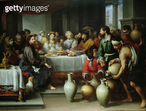 <b>Title</b> : The Marriage Feast at Cana, c.1665-75<br><b>Medium</b> : oil on canvas<br><b>Location</b> : The Barber Institute of Fine Arts, University of Birmingham<br> - gettyimageskorea