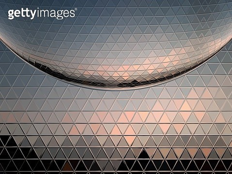 Metallic mosaic reflection - gettyimageskorea
