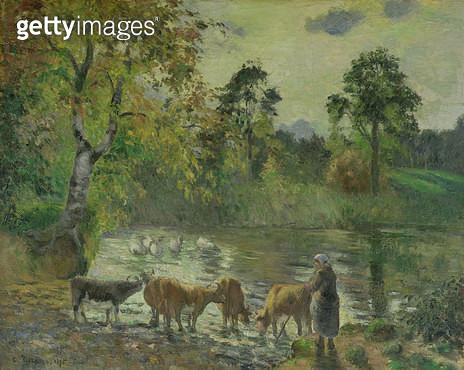 <b>Title</b> : The Pond at Montfoucault, 1875<br><b>Medium</b> : oil on canvas<br><b>Location</b> : The Barber Institute of Fine Arts, University of Birmingham<br> - gettyimageskorea