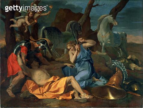 <b>Title</b> : Tancred and Erminia, c.1635Additional InfoGerusalemme liberata XIV stanzas 102ff;<br><b>Medium</b> : oil on canvas<br><b>Location</b> : The Barber Institute of Fine Arts, University of Birmingham<br> - gettyimageskorea