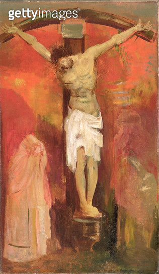 <b>Title</b> : The Crucifixion, c.1904Additional Infobased on the Crucifixion by Grunewald, Kunsthalle, Karlsruhe;<br><b>Medium</b> : oil on canvas<br><b>Location</b> : The Barber Institute of Fine Arts, University of Birmingham<br> - gettyimageskorea