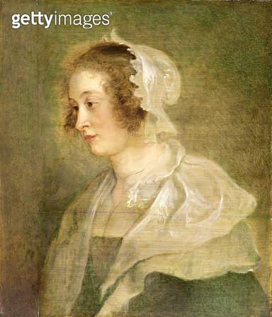 <b>Title</b> : Head of a Young Woman (panel)Additional Inforecently attr. to Johann Bockhorst (1604-68);<br><b>Medium</b> : oil on panel<br><b>Location</b> : The Barber Institute of Fine Arts, University of Birmingham<br> - gettyimageskorea