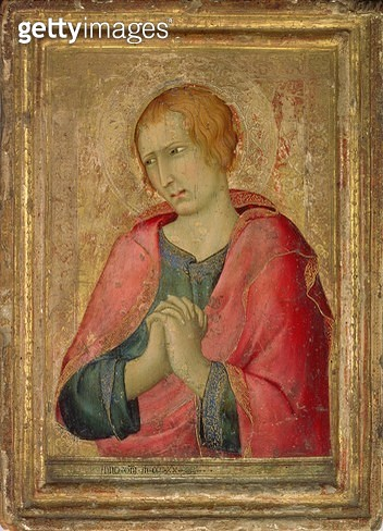 <b>Title</b> : St. John the Evangelist, 1320 (tempera on panel)Additional Inforight wing of an altarpiece;<br><b>Medium</b> : tempera on panel<br><b>Location</b> : The Barber Institute of Fine Arts, University of Birmingham<br> - gettyimageskorea