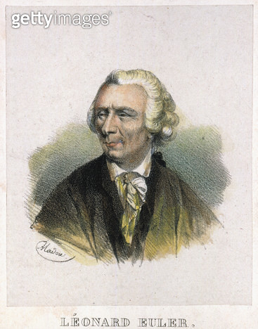 LEONHARD EULER (1707-1783). /nSwiss mathematician. French lithograph, early 19th century. - gettyimageskorea