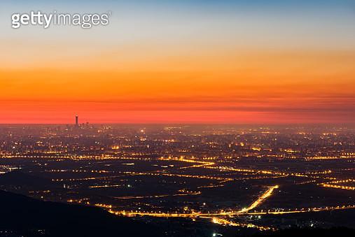 Beijing City Skyline, China, Aerial View at Sunrise - gettyimageskorea