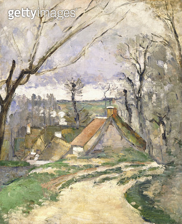 The Cottages of Auvers/ 1872-73 (oil on canvas) - gettyimageskorea