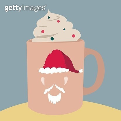 Hot Chocolate with Santa claus cup. - gettyimageskorea