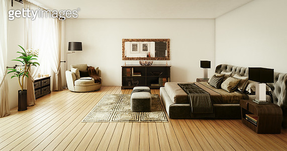 Stylish Master Bedroom Interior - gettyimageskorea