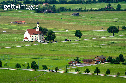 Church in rural Bavaria - gettyimageskorea