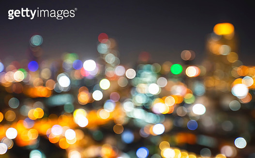 Blur city light bokeh abstract background at night - gettyimageskorea