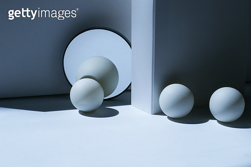 Abstract geometric shapes and shadow - gettyimageskorea