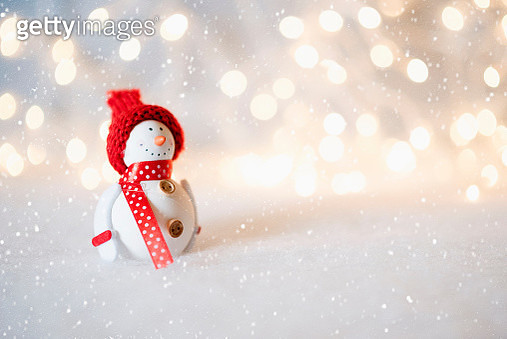 Close-Up Of Snowman Decoration - gettyimageskorea