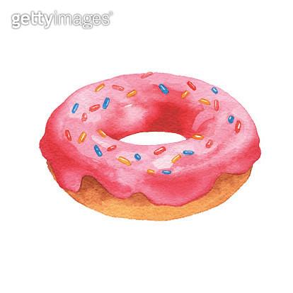 Vector illustration of pink donut. - gettyimageskorea
