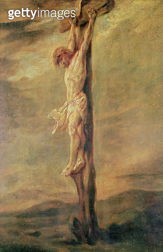 <b>Title</b> : Christ on the Cross, c.1646 (oil on canvas)<br><b>Medium</b> : oil on canvas<br><b>Location</b> : Musee Bonnat, Bayonne, France<br> - gettyimageskorea