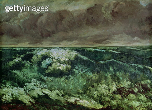 <b>Title</b> : The Wave, after 1870 (oil on canvas)<br><b>Medium</b> : oil on canvas<br><b>Location</b> : Musee des Beaux-Arts, Lyon, France<br> - gettyimageskorea
