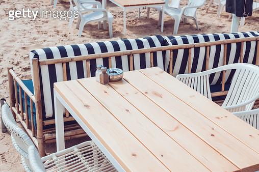 cafeteria on sandy beach - gettyimageskorea