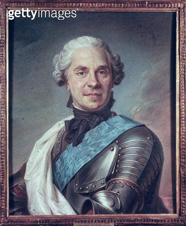 <b>Title</b> : Marshal Maurice de Saxe (1696-1750) (pastel on paper)<br><b>Medium</b> : pastel on paper<br><b>Location</b> : Musee de la Ville de Paris, Musee Carnavalet, Paris, France<br> - gettyimageskorea