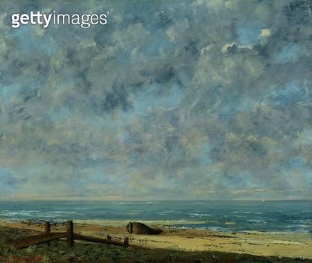 <b>Title</b> : The Sea, c.1872 (oil on canvas)<br><b>Medium</b> : oil on canvas<br><b>Location</b> : Musee des Beaux-Arts, Caen, France<br> - gettyimageskorea