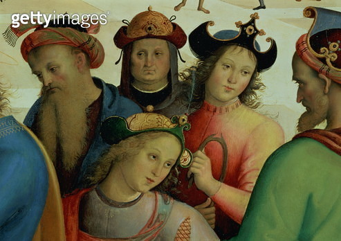 The Marriage of the Virgin, detail of the suitors, 1500-04 (oil on panel) (detail of 53750) - gettyimageskorea